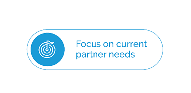 Image text: Focus on current partner needs