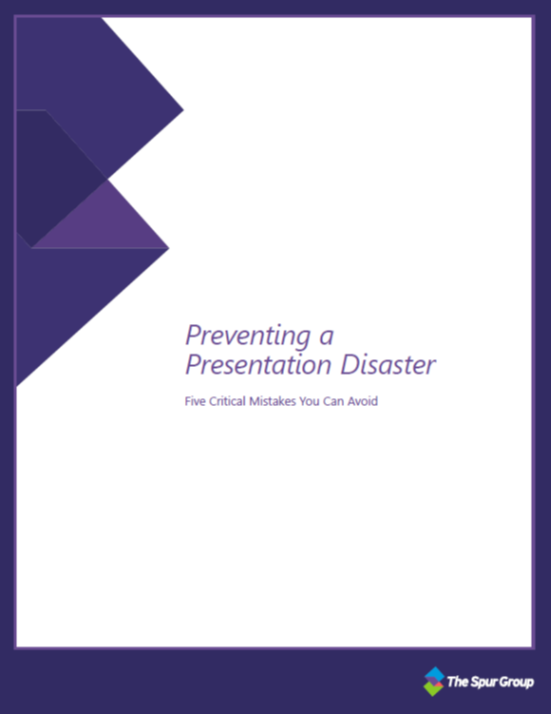 Preventing a presentation disaster, connected communications, the spur group