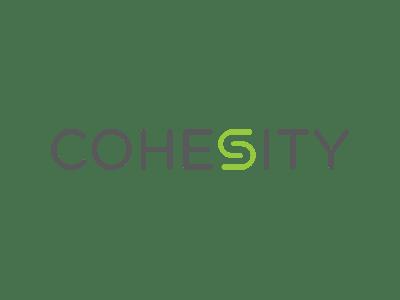 Cohesity logo.