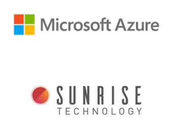 Microsoft Azure and Sunrise Technology logos.